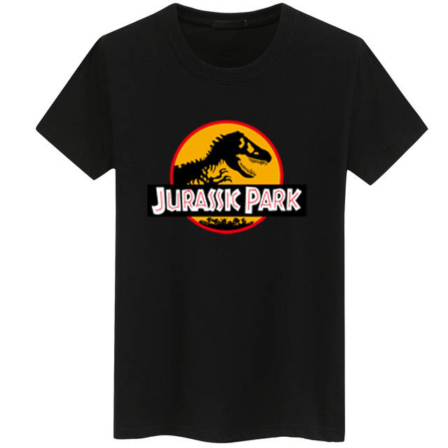 Online Shop 2018 Jurassic Park Print Men T Shirt Summer Tops Casual