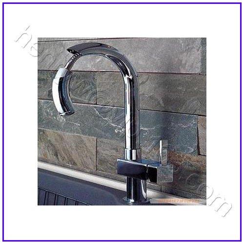 L16630-роскошный бортике хромированный цветной выдвижной спрей съемный кран - Цвет: Светло-серый