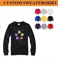 Мини оптовая продажа 50 шт.! бесплатная доставка стоимость! пользовательские толстовки, свитера, толщиной стиль, напечатать ваш логотип