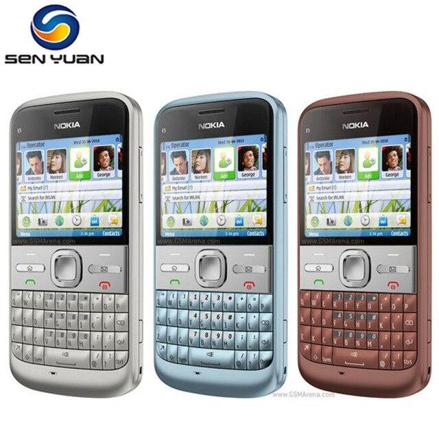 da05e4193c2 Original nokia E5 teléfono móvil 5MP Cámara 3G WIFI GPS Bluetooth barato  nokia E5 teléfonos celulares