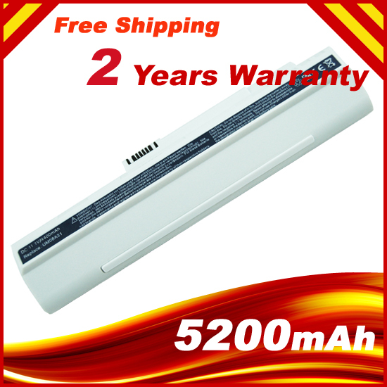 White Laptop Battery For ACER Aspire One ZG5 A110 A150 UM08A31 UM08A51 UM08A52 UM08A71 UM08A72 UM08A73 Free Shipping