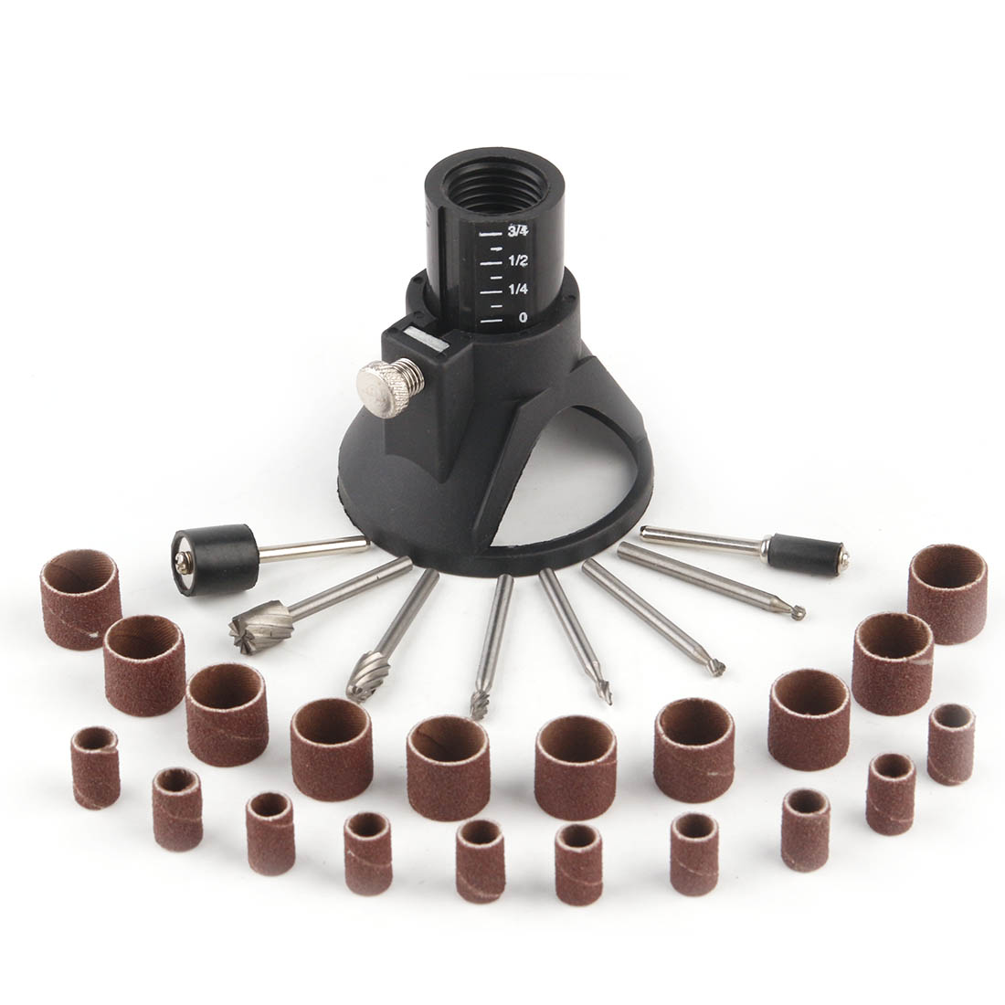 29 Pack Drill Bits Drill Locator Sanding Band Mandrel Tool Set Part For Grinding