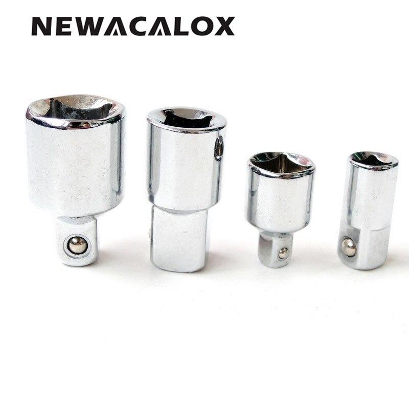 NEWACALOX Power Tool Accessories CRV Ratchet Socket Adapter Reducer Converter Set 1/4