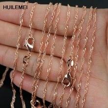 Ожерелье цепочка женское под розовое золото 2 мм 10 шт/лот