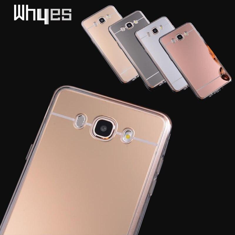 For Samsung J710F J7 Case 2016 Luxury Soft TPU & PC Mirror Cases For Samsung Galaxy J7 2016 J710F Fashion Cover Silicone Frame