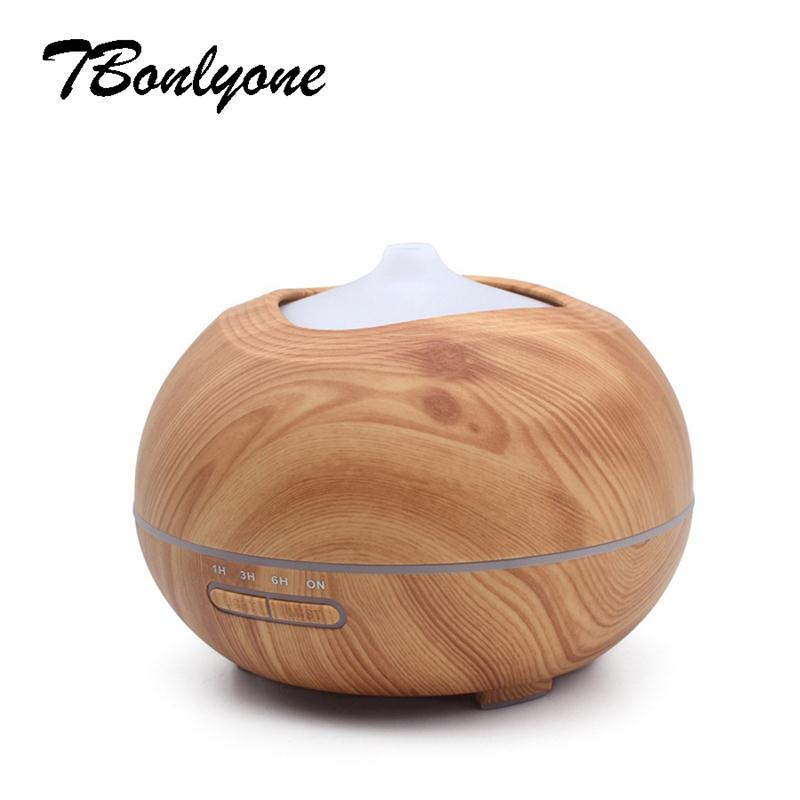 TBonlyone 300ML Aromatherapy Humidifier Aroma Lamp Ultrasonic Oil Diffuser Air Humidifier Essential Oil Diffuser for Home Spa