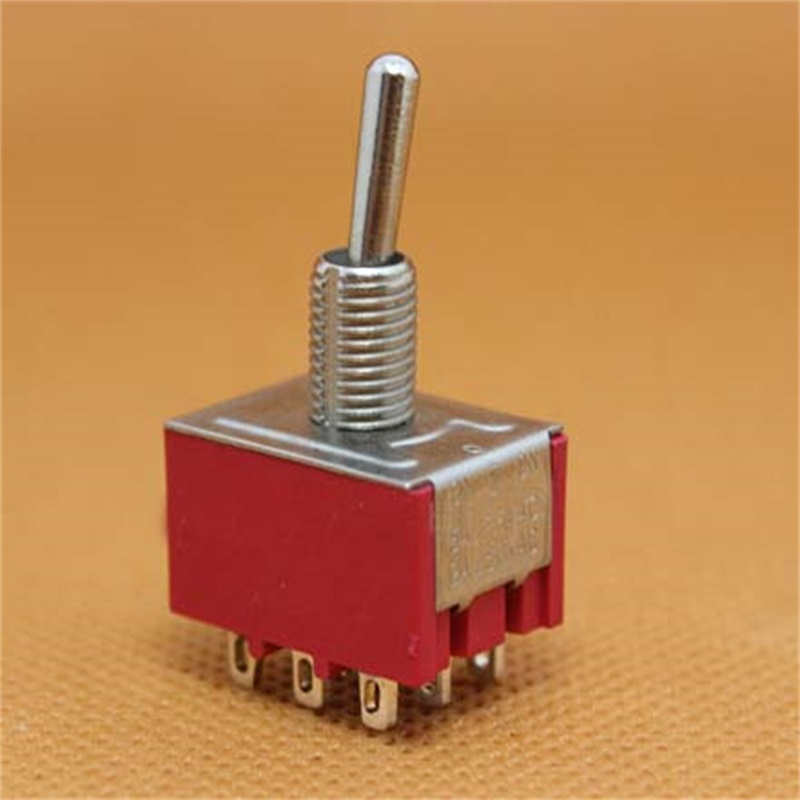 5pcs MTS-302 Toggle Switch AC 250V 2A 9 Pins 2 Position ON/ON 10pcs 6a 125vac 2a 250vac 12 pin 4pdt on on 2 position mini mts 402 toggle switch