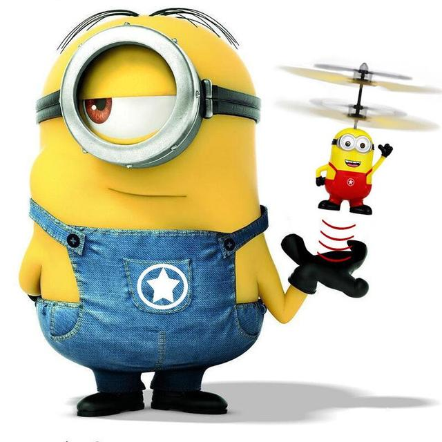 Upgrade Induction Flying Toys Despicable Me5 Minions Remote Control RC Helicopter floating toys kids Flying toys