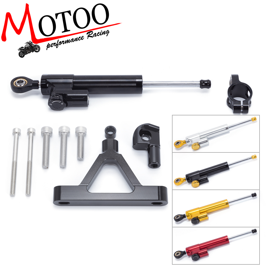 Motoo - FREE SHIPPING For Kawasaki ZX6R ZX-6R 2007-2008 Motorcycle Aluminium Steering Stabilizer Damper Mounting Bracket Kit aftermarket free shipping motorcycle parts eliminator tidy tail for 2006 2007 2008 fz6 fazer 2007 2008b lack