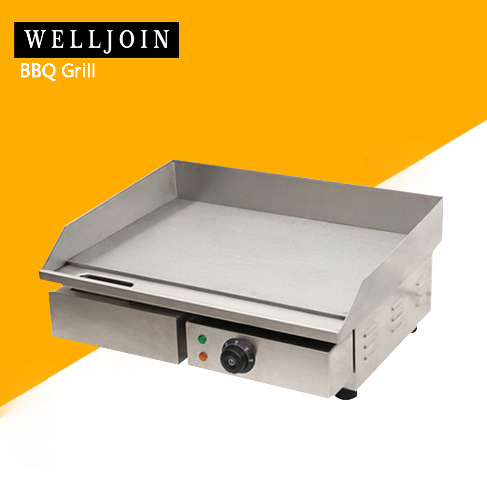 3KW 55CM Electric Griddle Grill Hot Plate Stainless Steel Commercial BBQ Grill