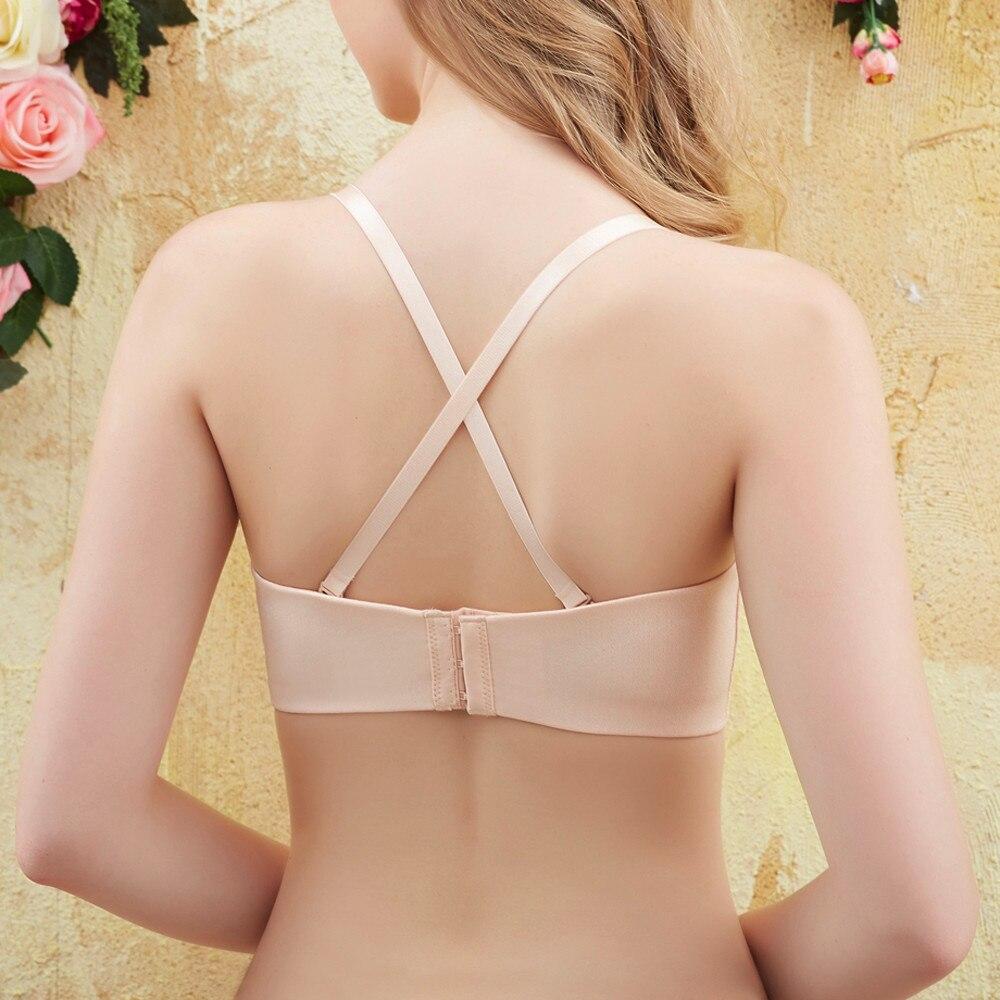Telotunt Underwear women 3 modes Sexy Bandage Plus Size Push Up Underwire Bra Underwear Postpartum Mom bra JU 27