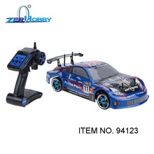 hsp flying fish 1/10 electric on road rc drift car with remote controller and battery included (item no. 94123-BL, 94123-GN)