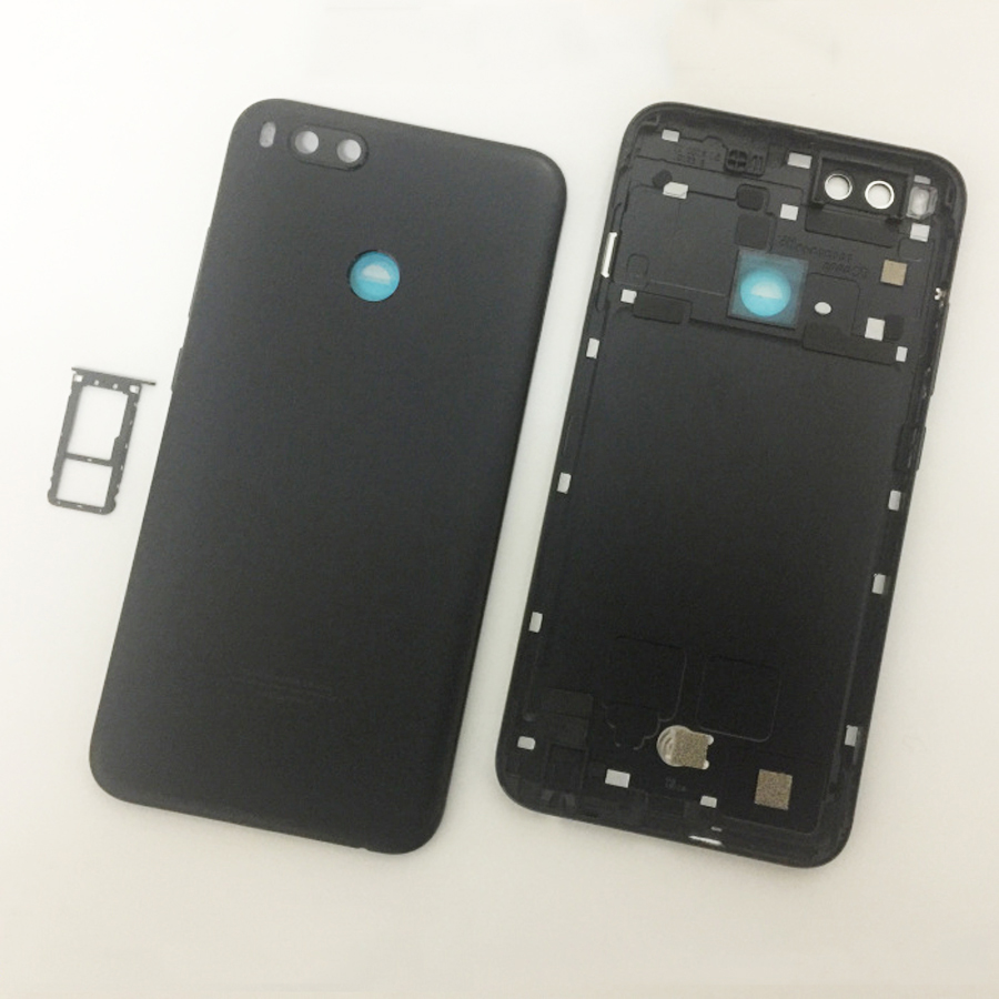 Image 5 - Original For Xiaomi Mi A1 5X MiA1 Mi5X Battery Cover Housing Back Door Housing + fingerprint sensor flex cable + +Sim TrayMobile Phone Housings & Frames   -