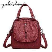 Fashion ladies backpack high quality leather backpack female student shoulder bag backpack mochila soft back zipper backpack