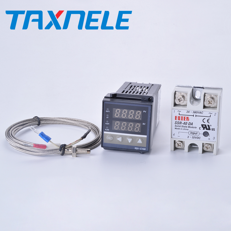 Max 40a Ssr Relais K Thermoelement Sonde Digitale Temperatur Controller Thermostat Rex-c100