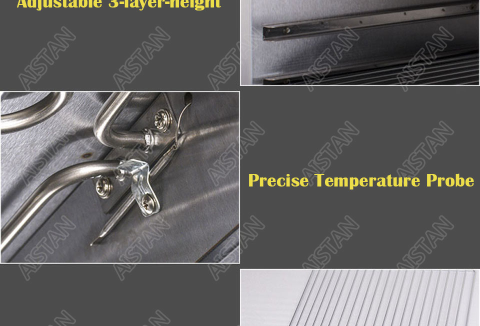 AT936 stainless steel electric hanging salamander for barbecue and kitchen equipment 14