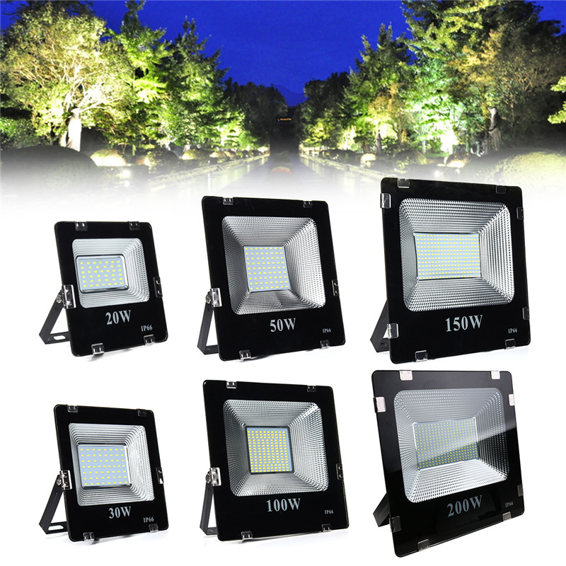 20W 30W 50W 100W 150W 200W 5630 LED Flood Light Landscape Outdoor Lamp IP66 White охлаждение для компьютера cooltex 95x95x30mm 30w 100w 95x95x30 white