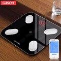 GASON S4 LED Baño Digital de Grasa Corporal báscula Grasa Scalesmart Android4.3 apoyo IOS7.0 Bluetooth 4.0 Perder Peso de pesaje
