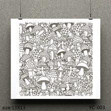 AZSG Mushroom /Mushroom Army Clear Stamps For Scrapbooking DIY Clip Art /Card Making Decoration Crafts