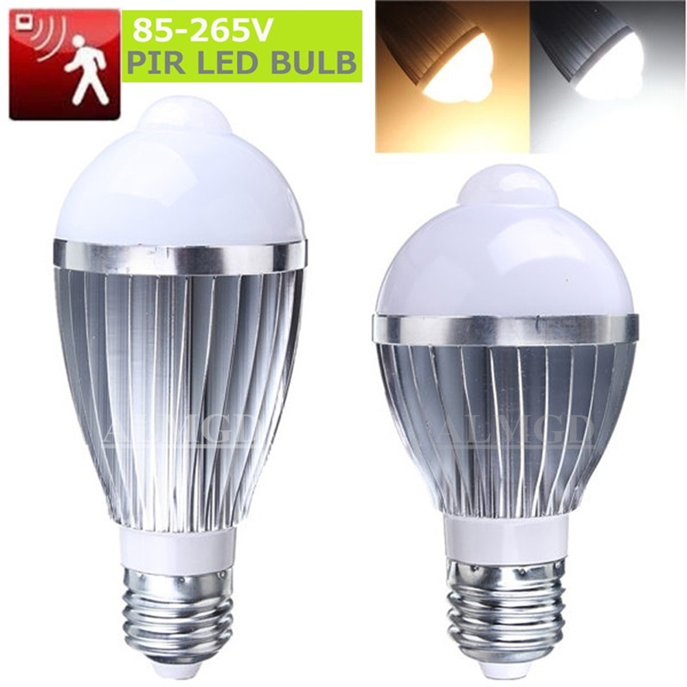 Motion Sensor LED Bulb Lamp E27 Spotlight 5W 7W 9W 5730SMD Cool White Warm White AC 85-265V for Bedroom Hallway Cabinet запчасть bbb bhg 19 lightfix 130mm