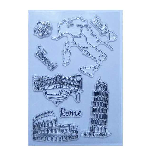 Clear Map Of Italy.Us 1 9 20 Off Map Of Italy Clear Stamps For Card Making Scrapbooking Photo Album Decor Rubber Silicone Craft Italian Travel Transparent Stamp In