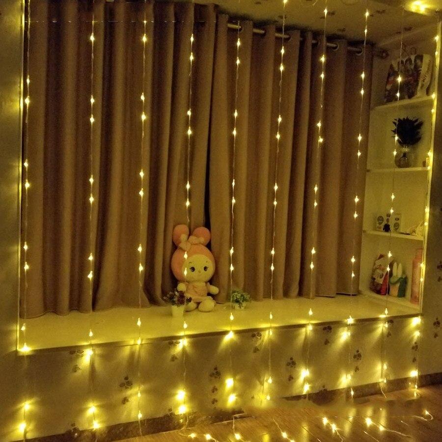 Thrisdar 6X3M 3X6M cascade effet rideau guirlande lumineuse vacances noël fête de mariage fond glaçon fée lumière - 5