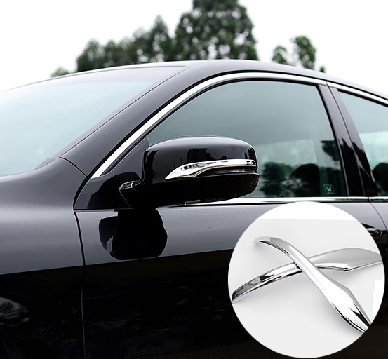 Accessories Fit For Honda Accord 2017 2016 Side Door Rearview Mirror Chrome Cover Trim Moulding