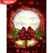 Huacan Official Store Diamond Painting Cartoon Embroidery Full Set Mosaic Rhinestone Christmas Decorations