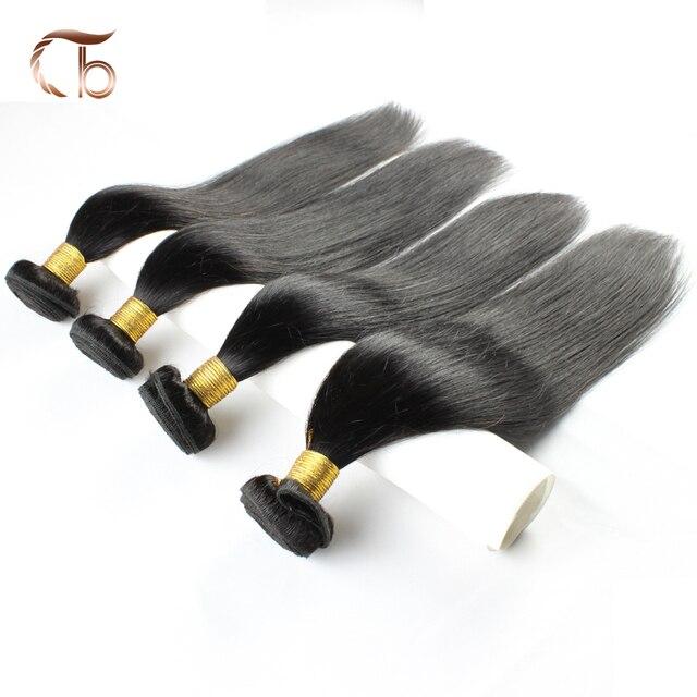 Бразильского виргинские волосы прямые человеческих волос 6А класс необработанные смешанная 8-30 дюймов 4 связки/серия наращивание волос дешевые пучки волос