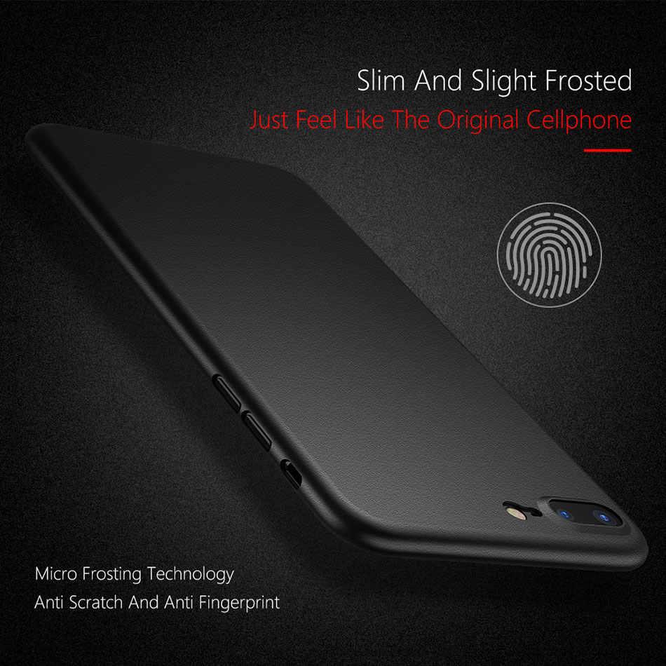 Matte กันกระแทกโทรศัพท์กรณีสำหรับ iPhone ของ Apple 7 XR XS MAX 6S Matte PC สำหรับ iPhone X XS 5 5s SE 6 6s 7 8 Plus Candy สี