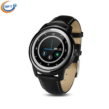 Gft 2016 dual-core-chip-dm365 smart watch full hd ips-bildschirm bluetooth smartwatch pulsmesser schlaf tracker für iphone ios android telefon