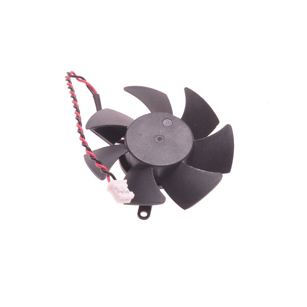 free shipping 45mm 0.1A 2pin Video Card VGA Cooler Fan For kuroutoshikou nVIDIA GeForce GT520 1GB Graphics card Cooling 75mm pld08010s12hh graphics video card cooling fan 12v 0 35a twin for frozr ii 2 msi r6790 n560gtx r6850 n460gtx dual cooler fan