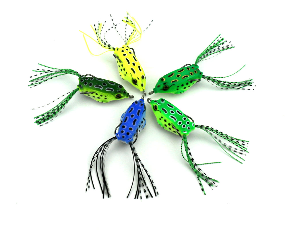 100pcs frog lure fishing lures fishing tackle artificial bait soft lure 5cm 8 4g