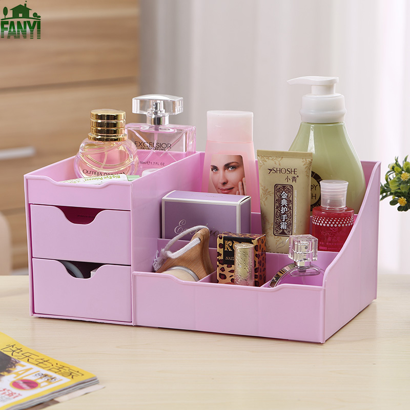 FANYI Creative Korean Waterproof Dressing Table Drawer Plastic Dusting Storage Boxes Household Finishing Box for free
