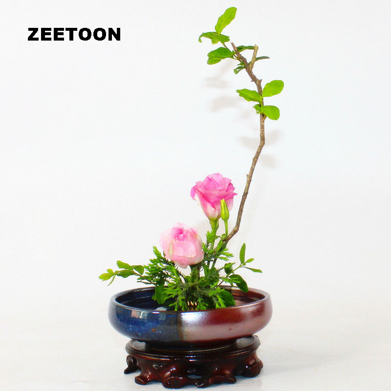 Japanese Handmade Coarse Pottery Vase Ceramic Container Ikebana Kenzan Hydroponic Flower Pot Fish Tank Bonsai Vintage Home Decor|Flower Pots & Planters| |  - title=