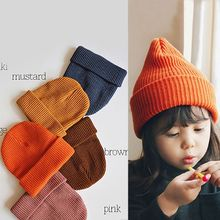 цена на Newborn Boys Girls Hat Cute Autumn Winter Kids Baby Hats Knitted Hemming Casual Caps Gift