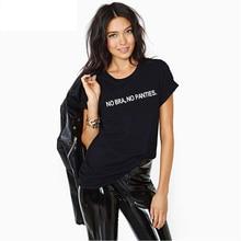 Europe Style Street Fashion Women Punk Short Sleeve T Shirt NO BRA NO PANTIES Funy Printed Tops