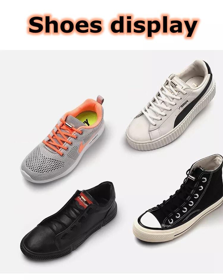 1 пара шнурки без завязок полукруг эластичные шнурки для обуви для детей и взрослых кроссовки шнурки быстро ленивые шнурки 19 цветов шнурки