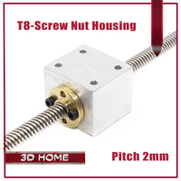 T8 Trapezoidal Lead Screw Nut Housing Bracket For 3D Printer Parts Reprap CNC
