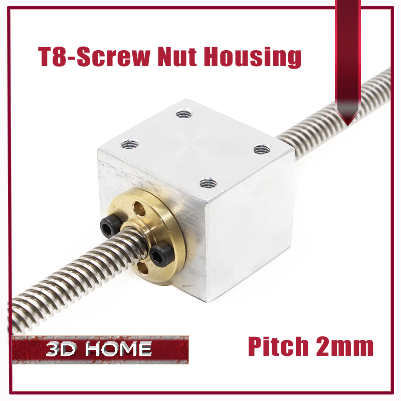 T8 Trapezoidal Lead Screw Nut Housing Bracket For 3D Printer Parts Reprap CNC (not include screw)