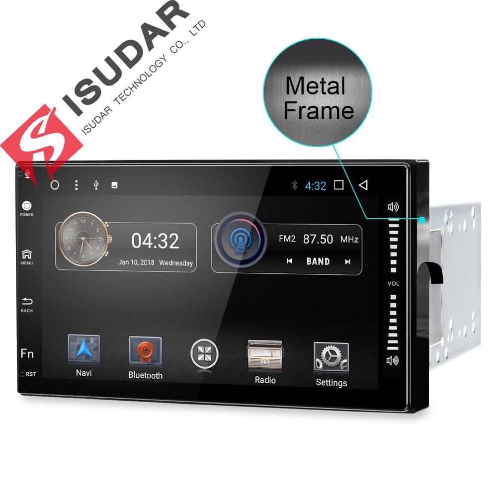 2 Due Din 7 Pollice Android 7.1.1 Universal Car Lettore DVD Per Nissan/Toyota Corrola/Volkswagen Wifi GPS di Navigazione Bluetooth Radio