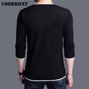 Image 3 - COODRONY Mens Sweaters 2019 Spring Autumn Cashmere Cotton Sweater Men Knitwear Shirt Pull Homme Casual V Neck Pullover Men 91012