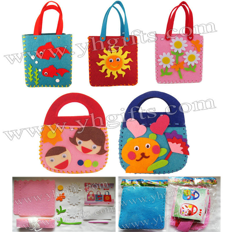 15pcs Lot Diy Felt Handbag Craft Kits Fabric Crafts Children Bag