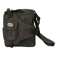 Üst Satış AERLIS hareket kanvas çanta omuz Messenger Çanta Ordu Yeşil
