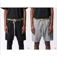 New Hot black/grey big and tall kanye urban clothing Shorts joggers justin bieber zipper harem Shorts summer