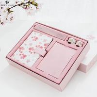 Sakura Japaneses Notebook A6 Cute Kawaii Love Planner Washi Tapes Ruler Pen Gift Box Office School