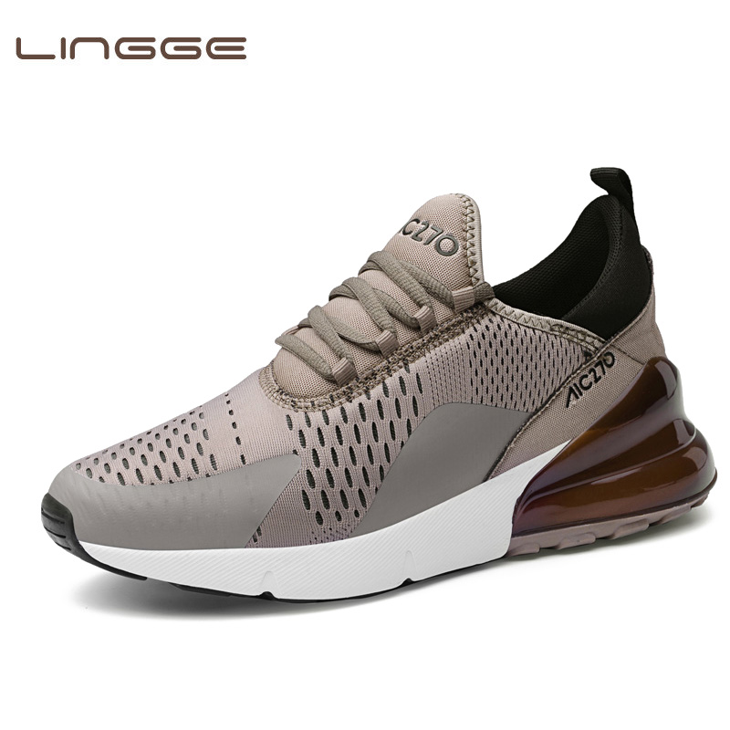 LINGGE Male Shoes Sneakers Designer Breathable Men's Original Outdoor High-Quality Authentic