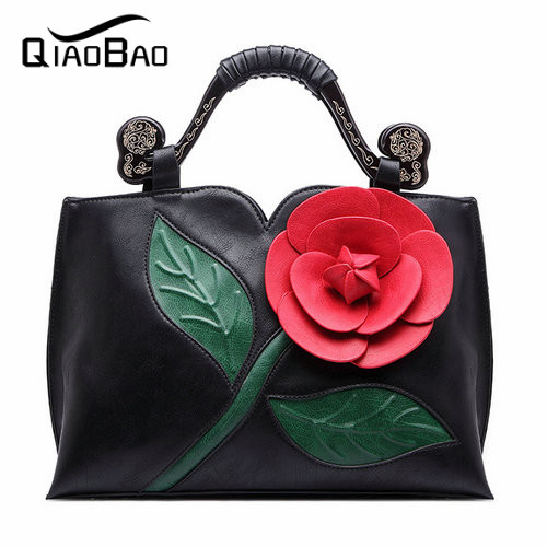 ФОТО QIAOBAO New brand women bag with large bow shoulder bags ladies designer handbag high quality Flower tote bag 7 colors
