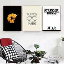 Stranger Things Minimalst Cartoon Posters And Prints Wall Art Canvas Painting For Living Room Decoration Home Decor Unframed