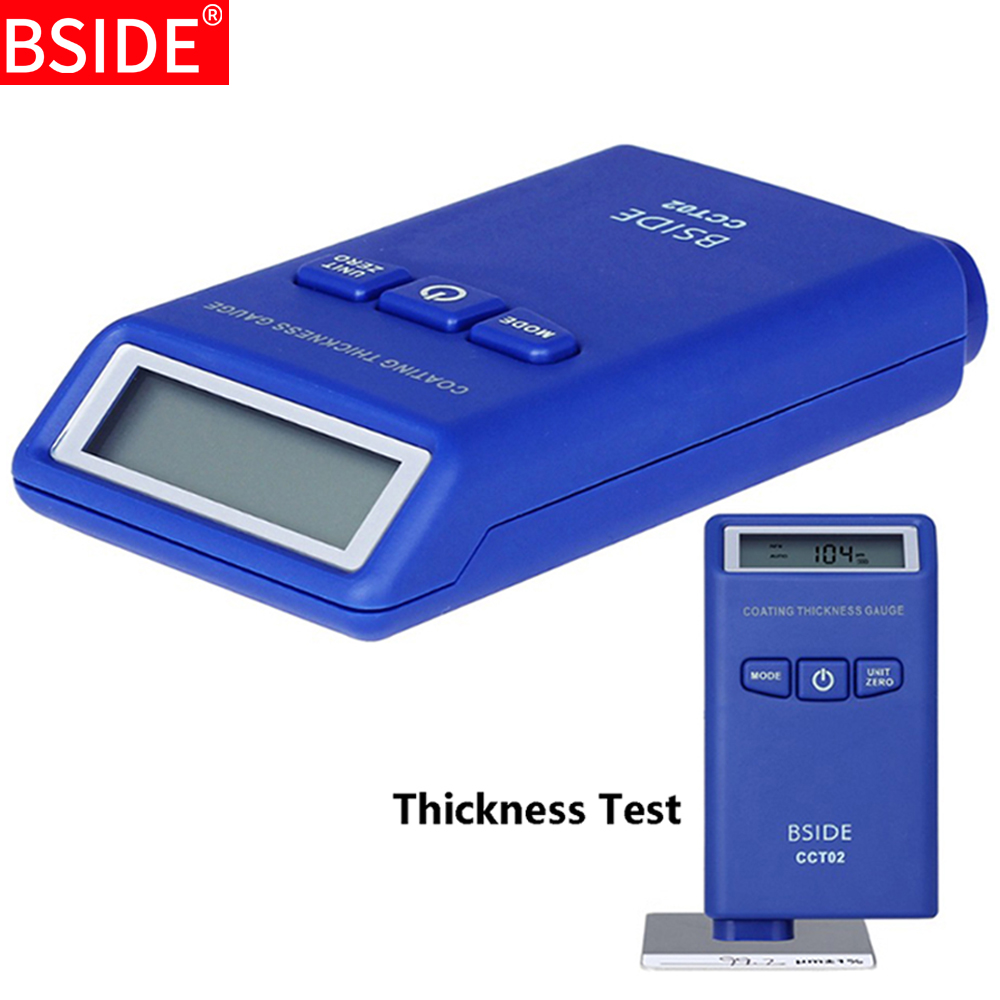 Digital Coating Thickness Gauge BSIDE CCT02 Mini Car Paint Thickness Meter Film Paint Coating Tester Eddy